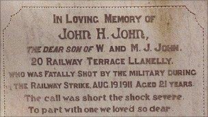 John John's grave Photo: Llanelli Library Service
