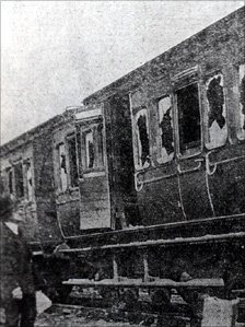 Some of the damage to railway coaches Photo: Llanelli Library Service