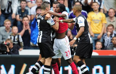 Joey Barton and Gervinho