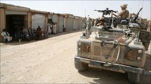British troops in Helmand Province, Afghanistan, June 2008.