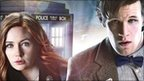 Matt Smith and Karen Gillan as Doctor Who and Amy Pond