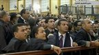 Lawyers inside the Cairo courtroom, 15 August.