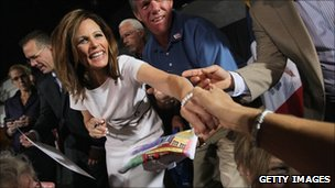 Michele Bachmann, shown on Sunday