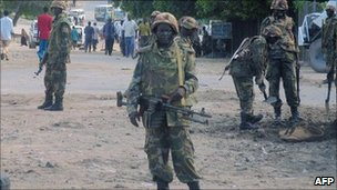 AU troops in Mogadishu (archive shot)