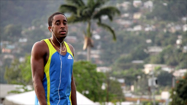 Jehue Gordon, hurdler from Trinidad and Tobago