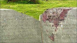 Belfast City Cemetery damage