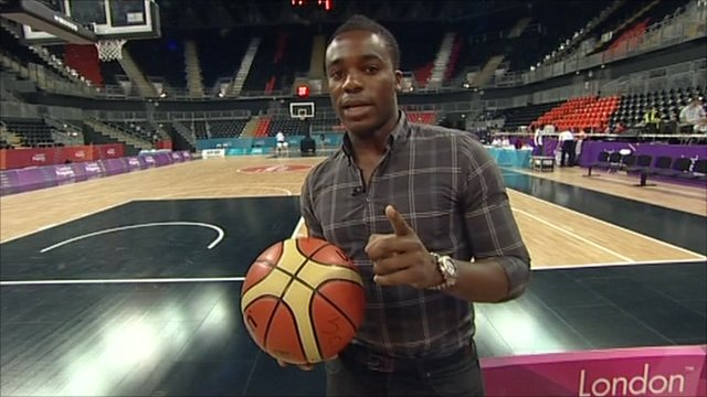 The BBC's Ore Oduba at the Olympic Park