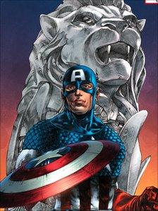 Captain America Merlion Variant Comic