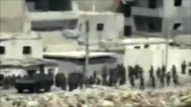 Amateur footage of tanks in Latakia, Syria