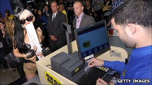 Lady Gaga at Best Buy