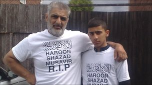 Tariq Jahan and a nephew, Faluk Hussain