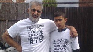 Tariq Jahan and a nephew, Faluk Hussain