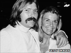 Doris Day (r) and her son Terry Melcher in 1970