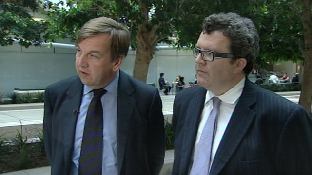 John Whittingdale (left) and Tom Watson (right)