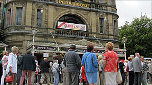 Festival goers at Buxton Opera House