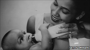 Mother and baby circa 1960