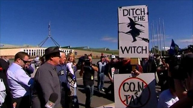 Australian Carbon tax protest