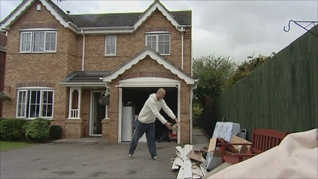 Resident clears up after floods in Goole