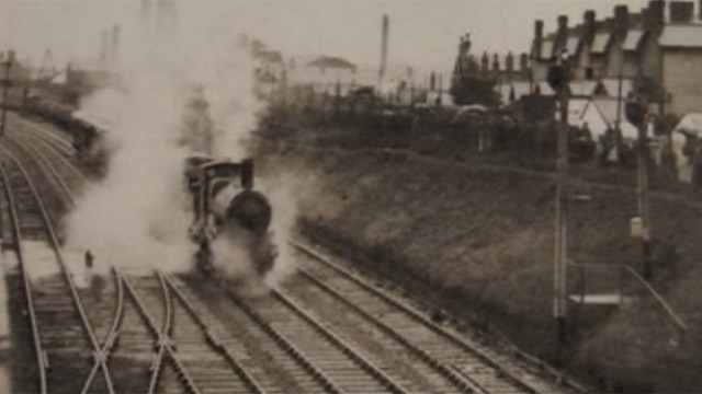 Steam train in Llanelli