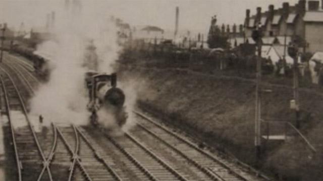Steam train in Llanelli