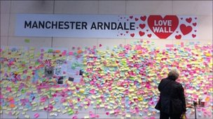 Manchester Arndale's love wall