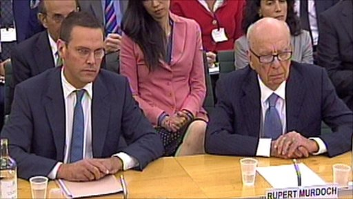 James Murdoch (left) and Rupert Murdoch