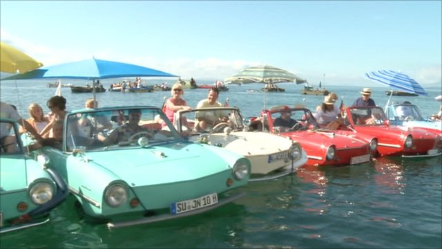 Amphibian cars