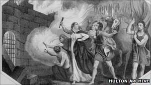 Boudicca burning city of London