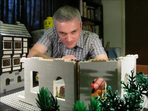 Chris Salt working on Lego model