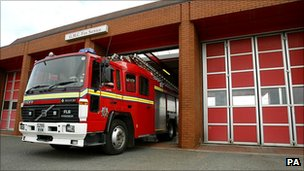 Fire engine in Greater Manchester