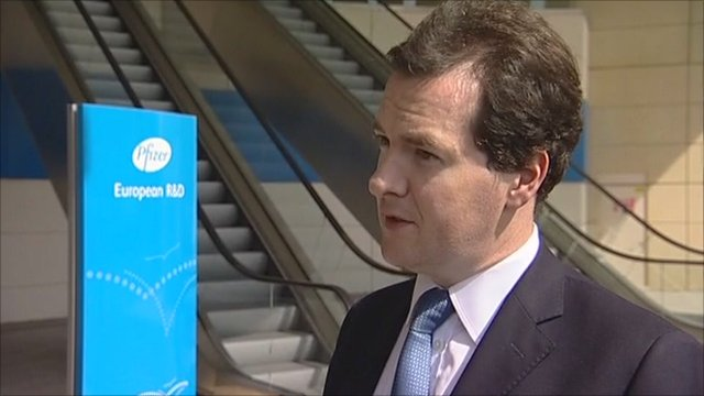 George Osborne at Pfizer