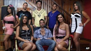 The cast of MTV's The Jersey Shore