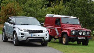Range Rover Evoque and Land Rover Defender