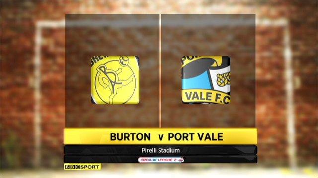 Burton Albion 1-1 Port Vale