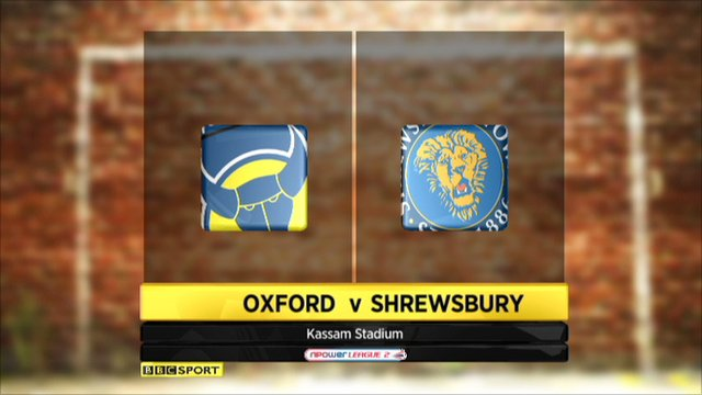 Oxford United 2-0 Shrewsbury Town