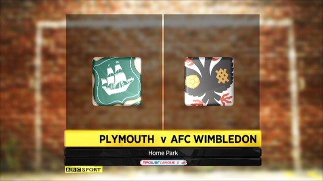 Plymouth 0-2 AFC Wimbledon
