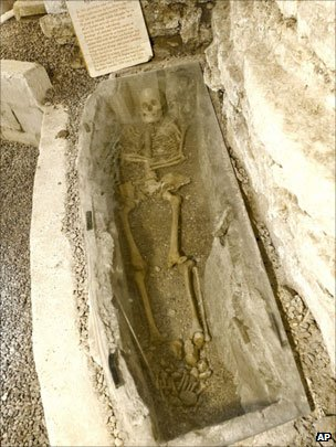 The medieval skeleton in the cellar of the property