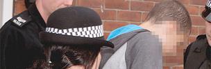 Arrest of an alleged rioter