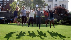 Three sets of twins receive results at Brighton College