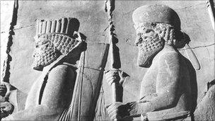 Murals at Persepolis, Iran