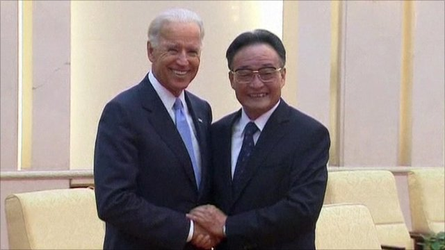 US Vice President Joe Biden and his Chinese counterpart Xi Jinping