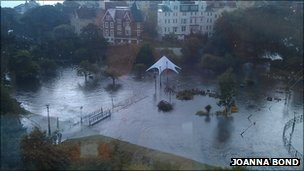 Bournemouth Lower Gardens submerged in water Photo by Joanna Bond