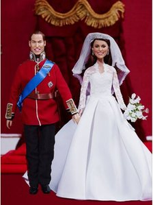 Prince William and Princess Catherine wedding dolls