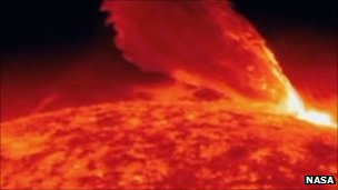 A solar storm