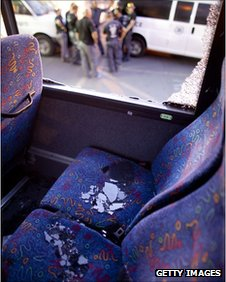 Bus attacked near Eilat, Israel, 18 August 2011
