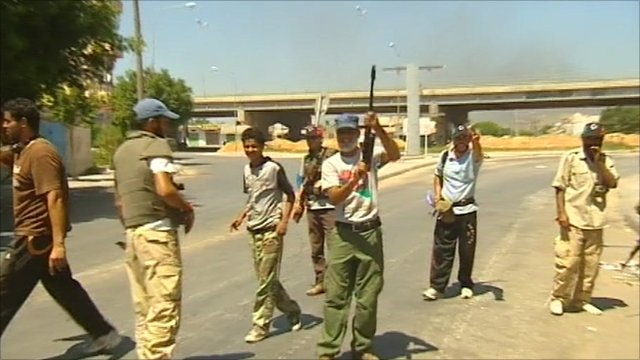 Libyan rebels in Zawiya