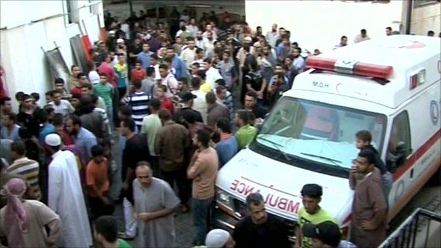 Ambulance in Rafah