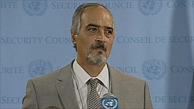 Syria&#039;s UN Ambassador Bashar Ja&#039;afari