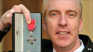 Simon Richardson was awarded an MBE after his Beijing successes
