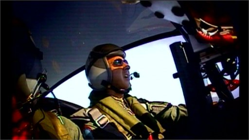 Richard Taylor immersed in simulated air combat